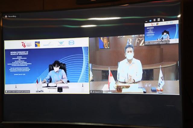 BP Batam dan Sunseap Group Pte. Ltd Tandatangani MoU Pembangunan Panel Surya di Waduk Duriangkang