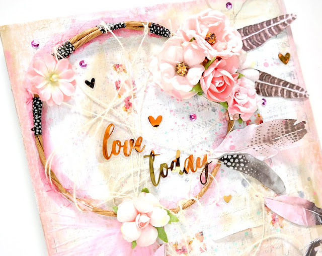 Love Today Dreamcatcher Canvas by Dana Tatar for Scraps od Darkness