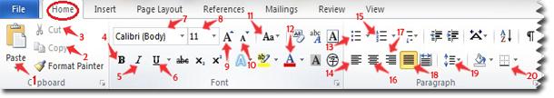 Toolbar pada menu Home yang wajib diketahui, Belajar komputer
