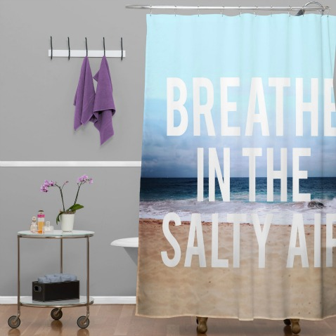 Beach Word Shower Curtain
