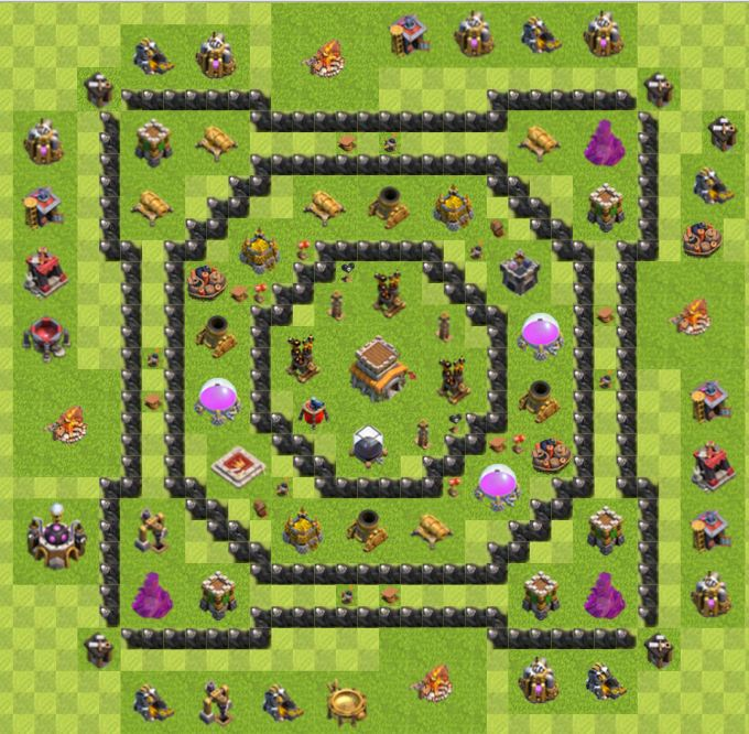 Creative Creation Technology: Clash Of Clan Town Hall 8