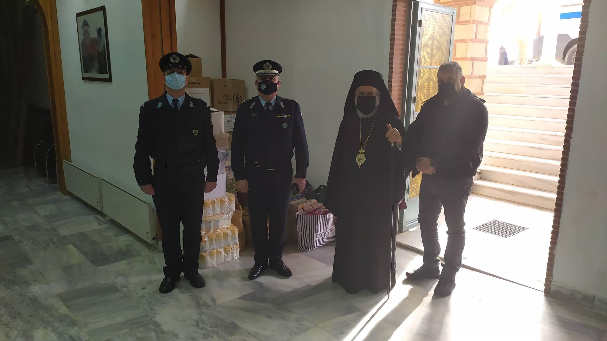 Ξάνθη: Τρόφιμα από την Αστυνομία στο Παντοπωλείο της Μητρόπολης