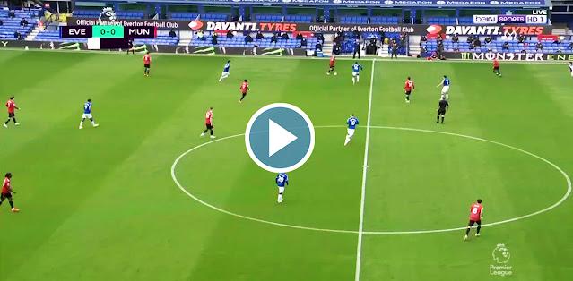 Everton vs Manchester United Live Score