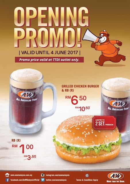 A&W Malaysia TTDI Opening Promo Discount
