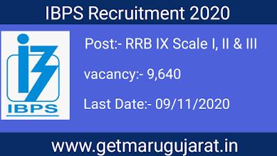 IBPS RRB IX Recruitment