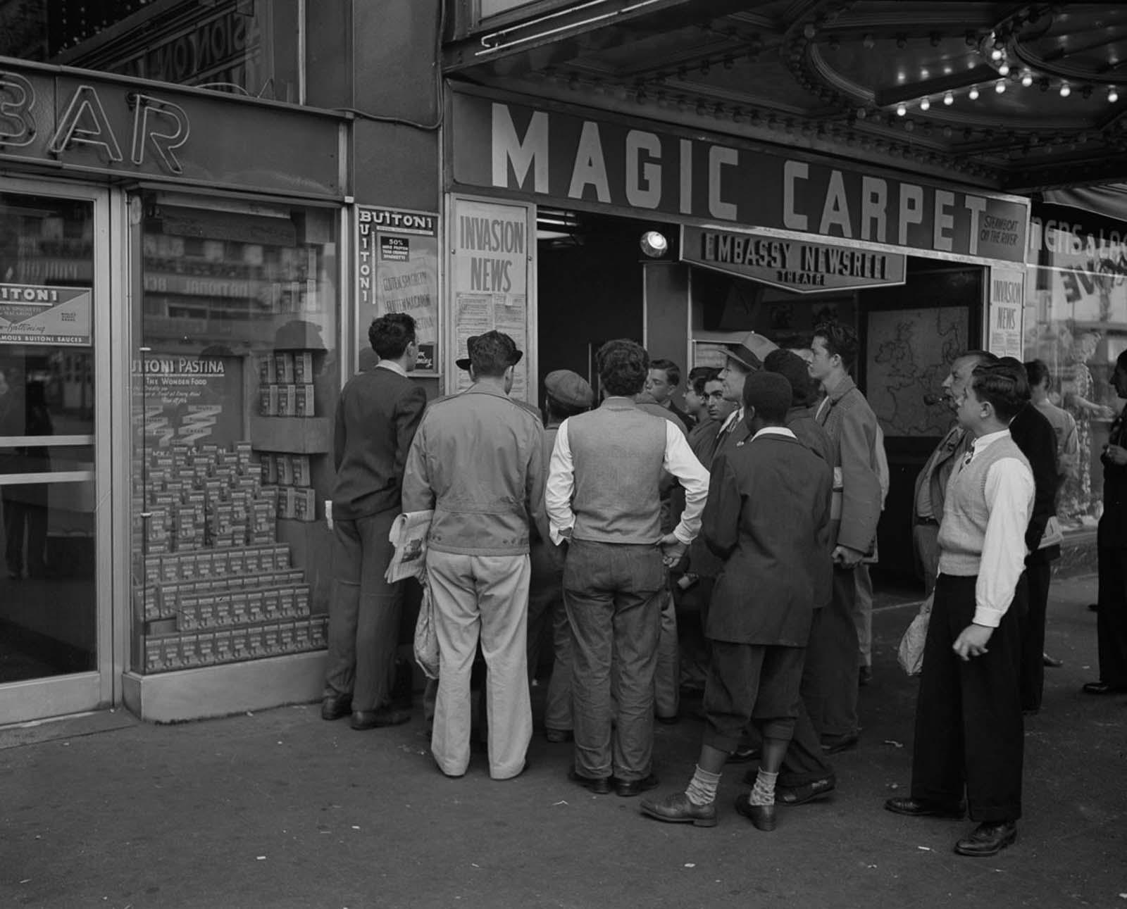 Cuando los neoyorquinos se enteraron de la invasión del Día D, 1944