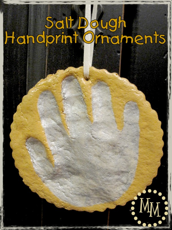 Salt Dough Handprint Ornaments - The Scrap Shoppe