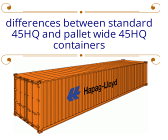 What Are The Main Differences Between 45 Standard High Cube Container And Pallet Wide