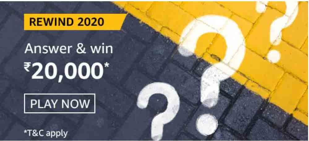 Amazon Rewind 2020 Quiz Answers