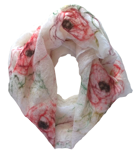 Rosemoor Rose Merino Scarf by Mimi Pinto on Amazon UK