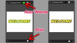 cara membuat bayangan pada teks di picsay pro