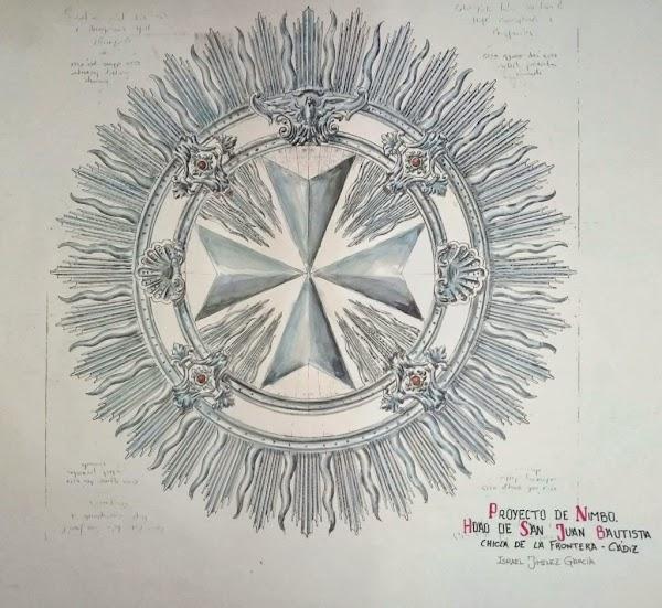 Así es el diseño de la futura aureola de San Juan Bautista de Chiclana