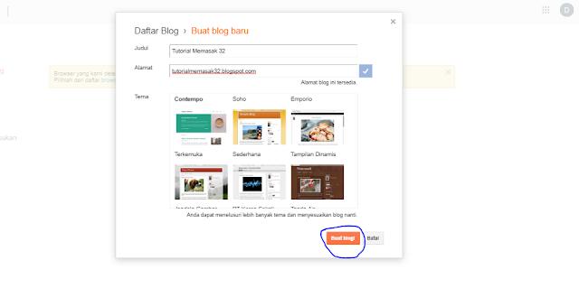 cara mudah membuat blog di blogger lewat hp