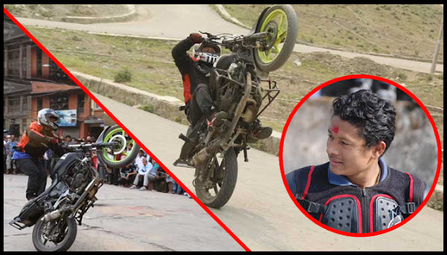 Milan Pradhan is one of the most famous stunt riders from Sikkim.