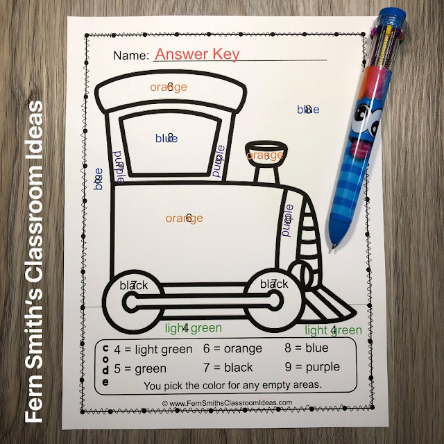 Click Here to Grab These Adorable Transportation Color By Code Kindergarten Know Your Numbers and Shapes Printable Worksheets Today!