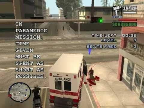 Paramedic Mission (GTA SA Master Save Game)