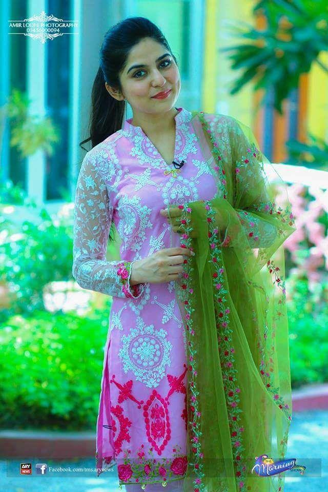 Sanam Baloch Full Embroidered Net Dress Net Embroidered Dupatta