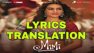 Choti Si Chiraiya Lyrics in English | With Translation | – Mimi | Kailash Kher