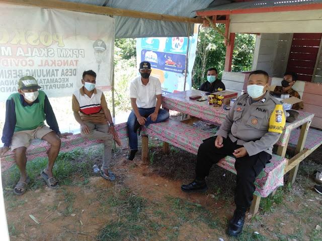 Personil Polsek Lamandau laksanakan Sambang warga di Tanjung Beringin
