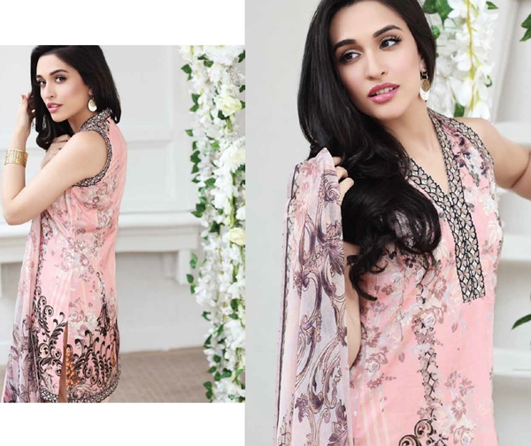 Zarqash Unstitched Luxury Lawn Suits Collection 2017-18
