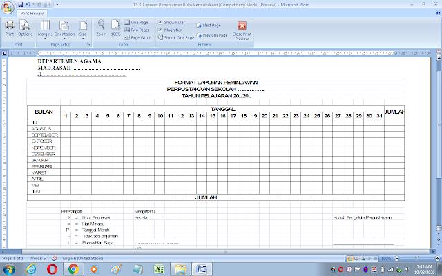 Contoh laporan peminjaman buku perpustakaan sekolah