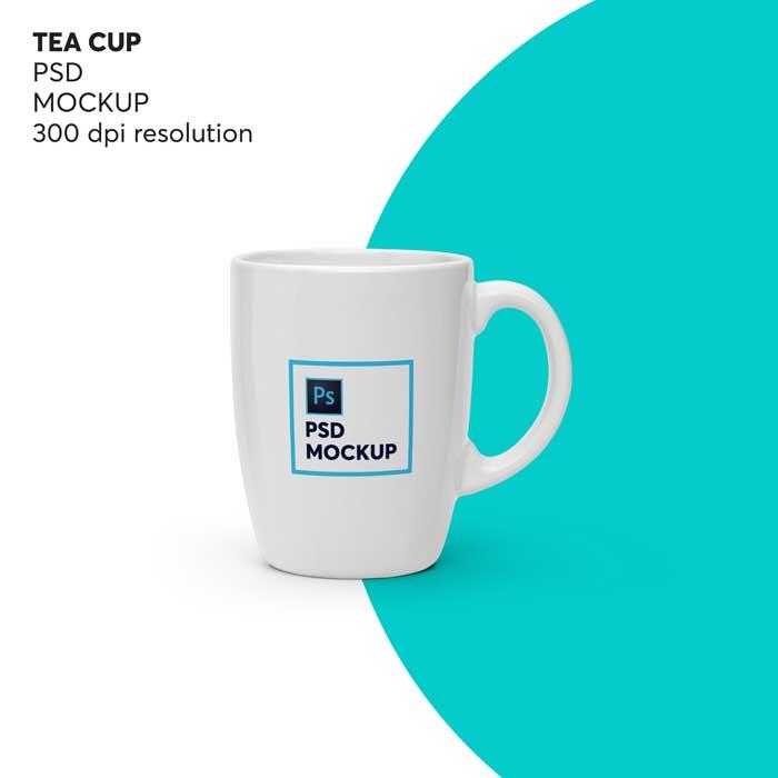 Tea Cup PSD Mockup