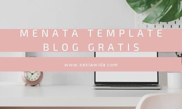 Menata Template Blog Gratis