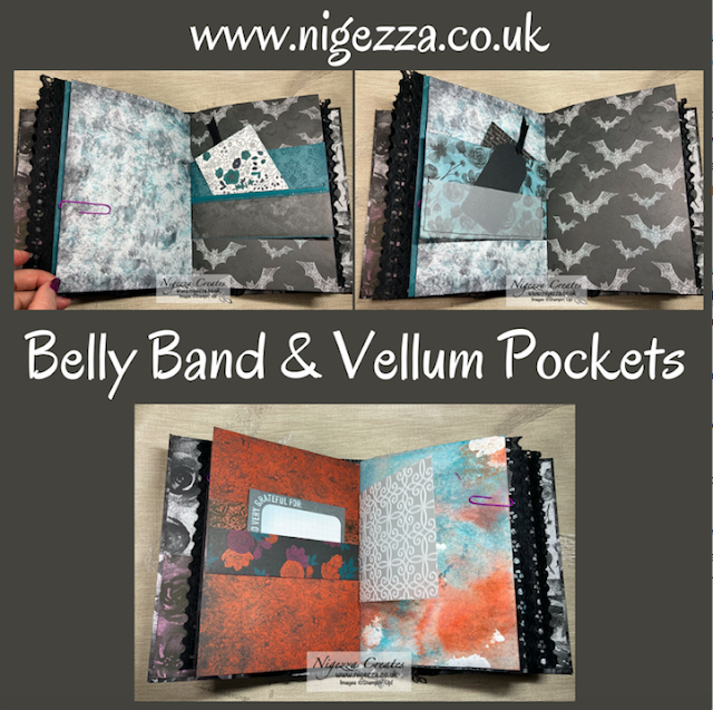 Gothic Junk Journal: Belly Band & Vellum Pockets