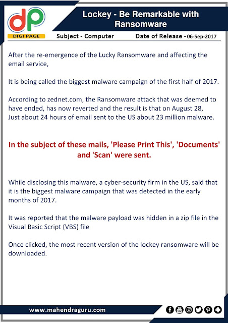 DP | Lockey - Be Remarkable With Ransomware  | 06 - 09 - 17