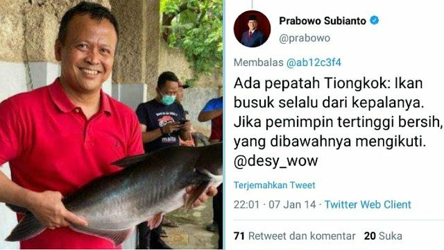 Viral Cuitan Lawas Prabowo soal Korupsi,