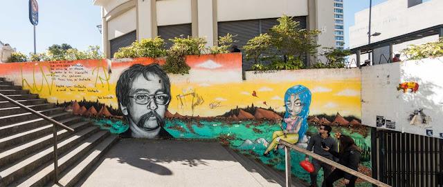 Grafite em homenagem a Paulo Leminski