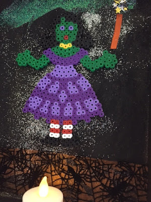 Hama bead witch design