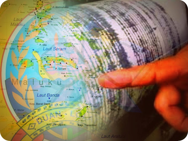 Gempa Bumi 5,7 SR di Laut Banda Dirasakan Hingga Tanimbar
