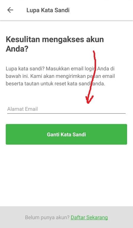 Masukkan Email Tokopedia Anda