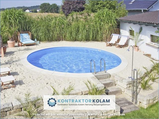 desain kolam renang pool Tangerang Selatan
