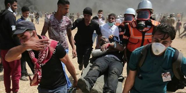 Astaga, Pengunjuk Rasa Palestina Bentrok Dengan Tentara Israel, Tujuh Orang Tewas Ditembak