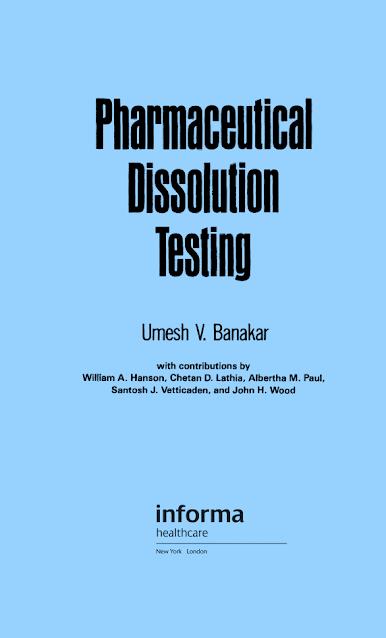 Pharmaceutical Dissolution Testing