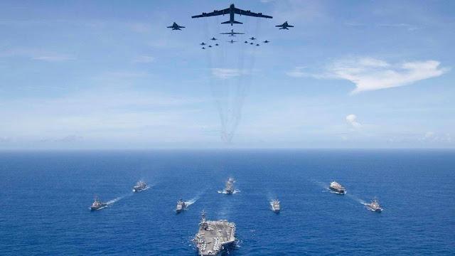 Mỹ và Úc kéo tàu chiến đến Biển Đông, trấn áp Trung Quốc