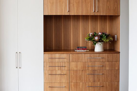 Safari Fusion blog | Pretty Protea | Stylish timber cabinetry in a Johannesburg apartment, Gass Architecture South Africa via Apartment Therapy