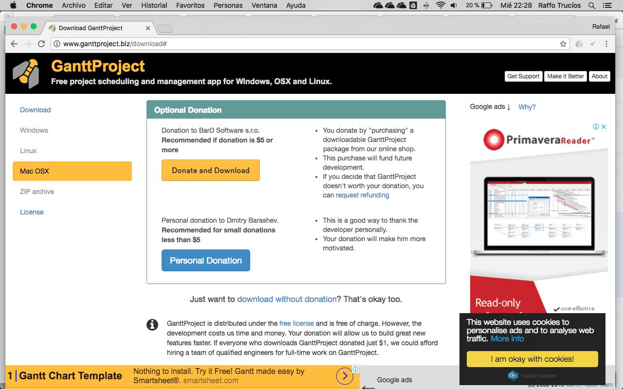 diagrama de gantt online gratis compatible para mac windows y