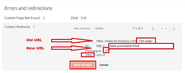 How to set custom redirects in blogger