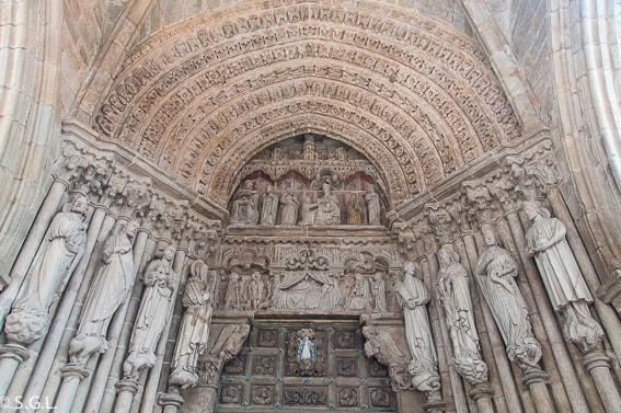 Portada catedral de Tui. Pontevedra