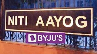 Byju's partnered with NITI Aayog