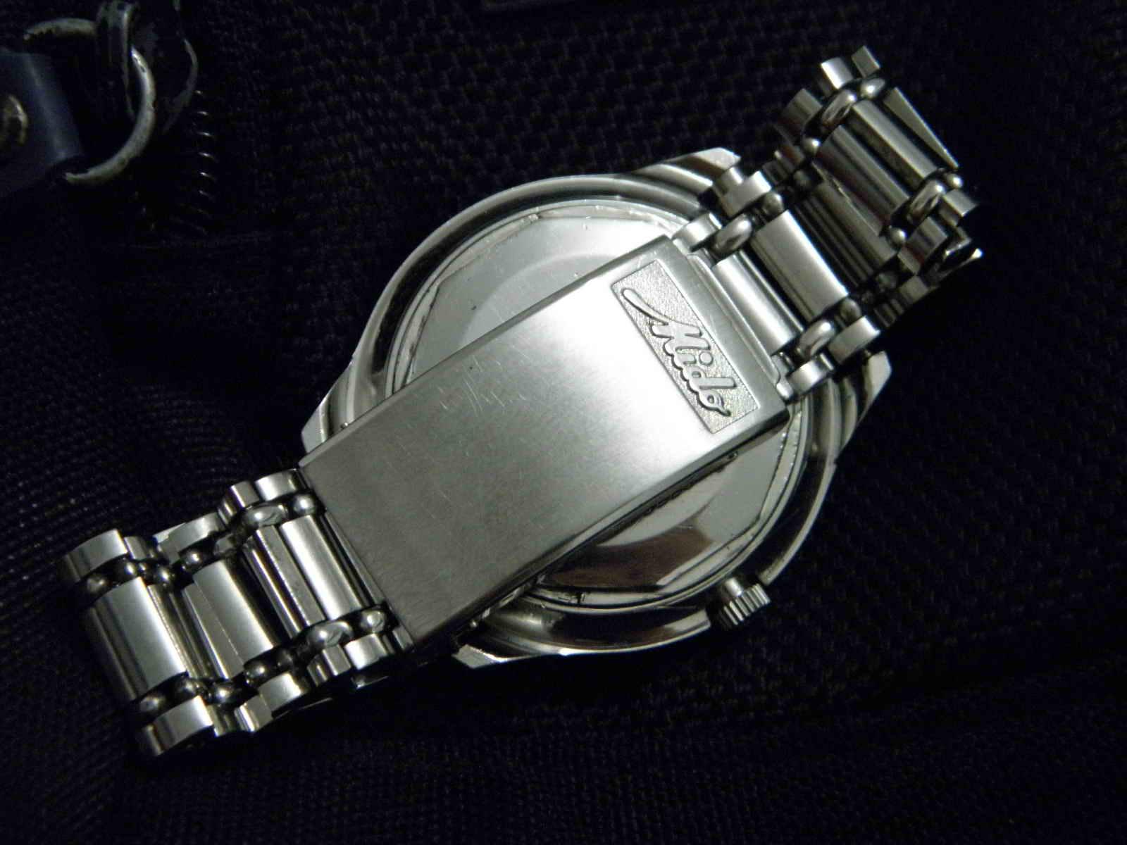 Kiosku Sold Mido Commander 2 Charles Jourdan 1016 1312c Hitam Ring Silver Plat Putih Dial Steel Senada Dengan Case Dan Bracelet Mika Aftermarket Logo Masih Nyaman Utk Lingkar 18 Cm