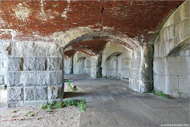 Casamatas del Fuerte Fort Popham en Phippsburg, Maine