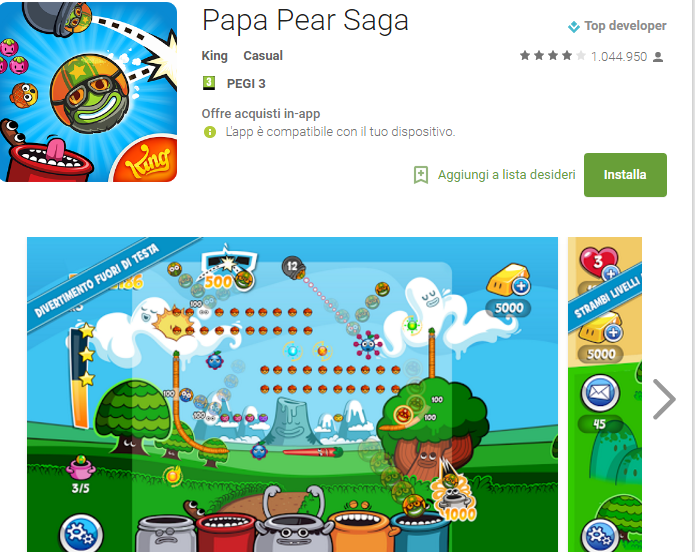 Soluzioni Papa Pear Saga livello 61-62-63-64-65-66-67-68-69-70-71-72-73-74-75 | Trucchi e Walkthrough level