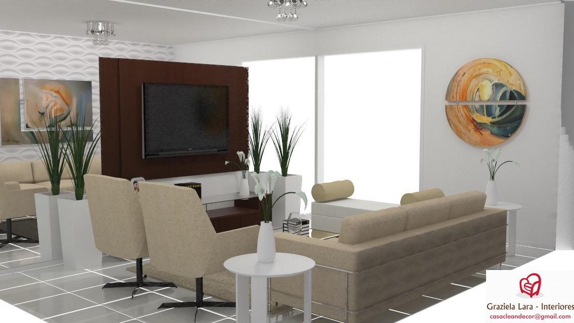 Construindo minha casa clean decora o sala de estar com for Sala de estar funcional