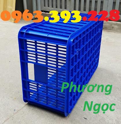 Sóng nhựa hở HS014, sọt nhựa rỗng công nghiệp, sọt nhựa đựng hàng hóa SR255