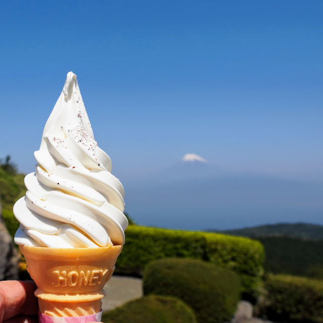 だるま山高原レストハウス 黒米ソフトクリーム