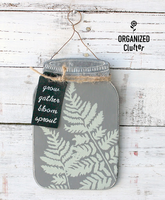 Dollar General Jar Wall Sign Upcycle Two #dollargeneral #upcycle #dixiebellepaint #stencil #redesignbyprima #Jars